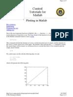 Plotting in Matlab
