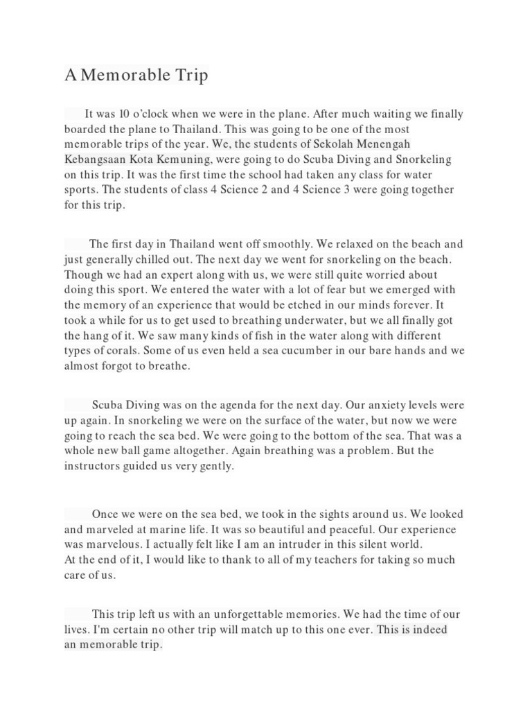 essay about a camping trips Student essay - a camping trip – byun wan joo, year 7, sayfol international school a camping trip – byun wan joo, year 7, sayfol international school.