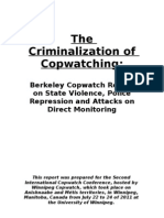 Berkeley CopWatch.the Criminalization of Copwatching.report October 2011
