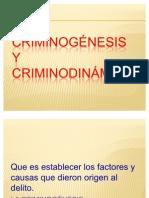 CRIMINOGNESIS Y CRIMINODINMICA