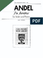 Handel - Sonata No1 in a Major (Piano)