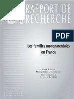 2007 Familles Monoparentales en France