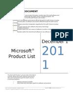 MicrosoftProductList(Worldwide)(English)(Dec2011)CR