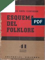 Cortazar, A. R. Esquemas Del Folklore