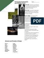 Elements & Principles of Design Project