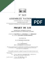 7:2011 Projet de Loi relatif a la repartition des contentieux et à l'alegement de certaines procédures juridictionnelles