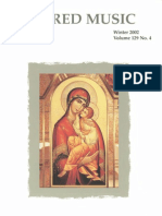Sacred Music, 129.4, Winter 2004; The Journal of the Church Music Association of America