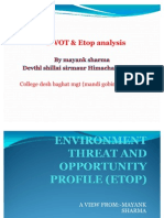Swot and Etop Analysis