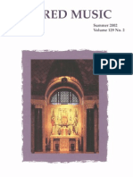 Sacred Music, 129.2, Summer 2004; The Journal of the Church Music Association of America