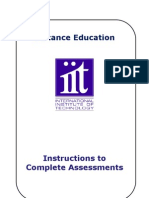 Instructions to Complete Distance Assessments