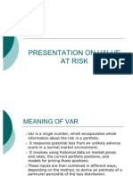 Presentation on Value at Risk