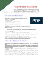 1-Droits Et Obligations Des Travailleurs