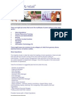 Types of Retail Jobs