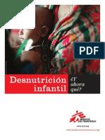 Desnutrición infantil, ¿y ahora qué?