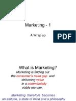 Marketing 1 - Wrap Up