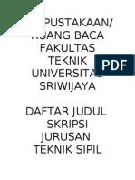 Sampul Daftar Skripsi Sipil