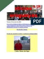 Noticias Uruguayas Viernes 13 de Enero de 2012