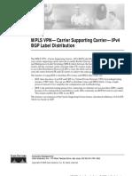 Mpls VPN Carrier Supporting Carrieripv4 Bgp Label Distribution 3875