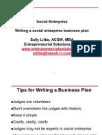 Writing Asocial Enterprise Business Plan