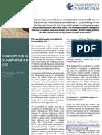 TI- Corruption in Aid
