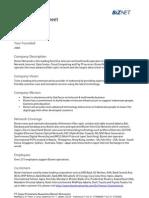 Corporate Fact Sheet 2011