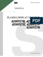 Toshiba 42wp27b Plasma Tv Sm