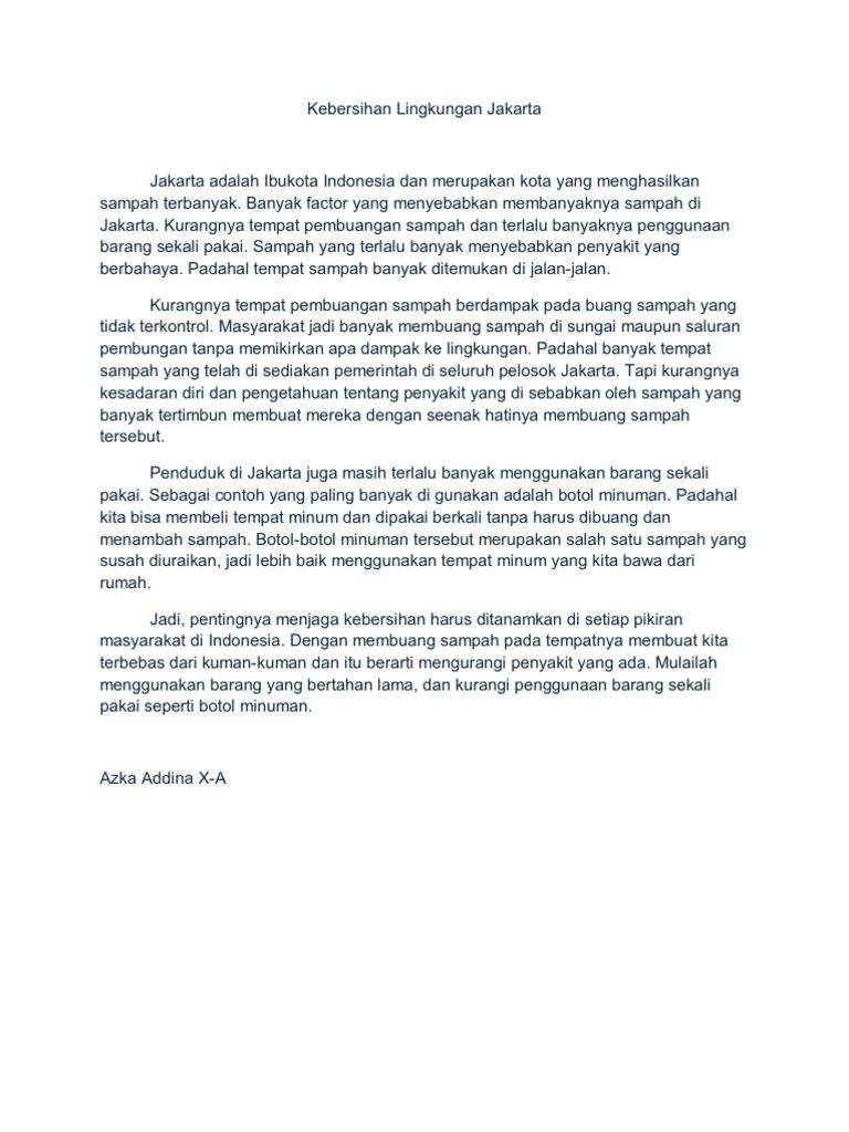 Kebersihan Lingkungan Jakarta