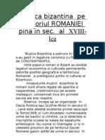 Muzica Bizantina Pe Teritoriul ROMANIEI Pina in Sec