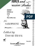 David Hite - Melodious & Progresive Studies for Saxophone