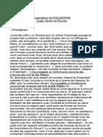 Dissertation de Phi Lo Sophie, Savoir Et Pouvoir (2011-2012)