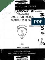 Small Unit Tactics Partisan Warfare