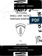 Small Unit Tactics Partisan Warfare