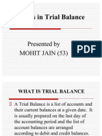 Errors in Trial Balance Ppt