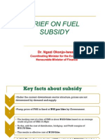 Stephanie Dychiu Scribd - Nigerian Finance Minister's Rationale for Removal of Oil Subsidy