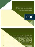 Operasi Masukan Pada Bahasa C