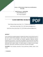 Cloud Computing an Analysis