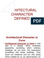 Architectural Character Defined
