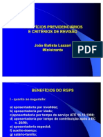 Beneficios Previdenciarios e Criterios de Revisao i