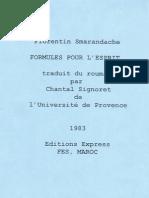 Formules pour l'esprit, par Florentin Smarandache, traduit par Chantal Signoret