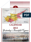 2012 Calendar - Yesterday's Beautiful Cyprus (English)