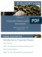 CFA1_Corporate Finance and Equity Investment Training