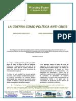 LA GUERRA COMO POLÍTICA ANTI-CRISIS - WAR AS ANTI-CRISIS POLICY (Spanish) - GERRA KRISIALDIAREN AURKAKO POLITIKA GISA (Espainieraz)