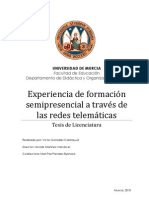 Experiencia de formación semipresencial a través de las redes telemáticas (Blended learning)