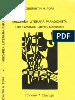 Miscarea literara paradoxista, de C. M. Popa