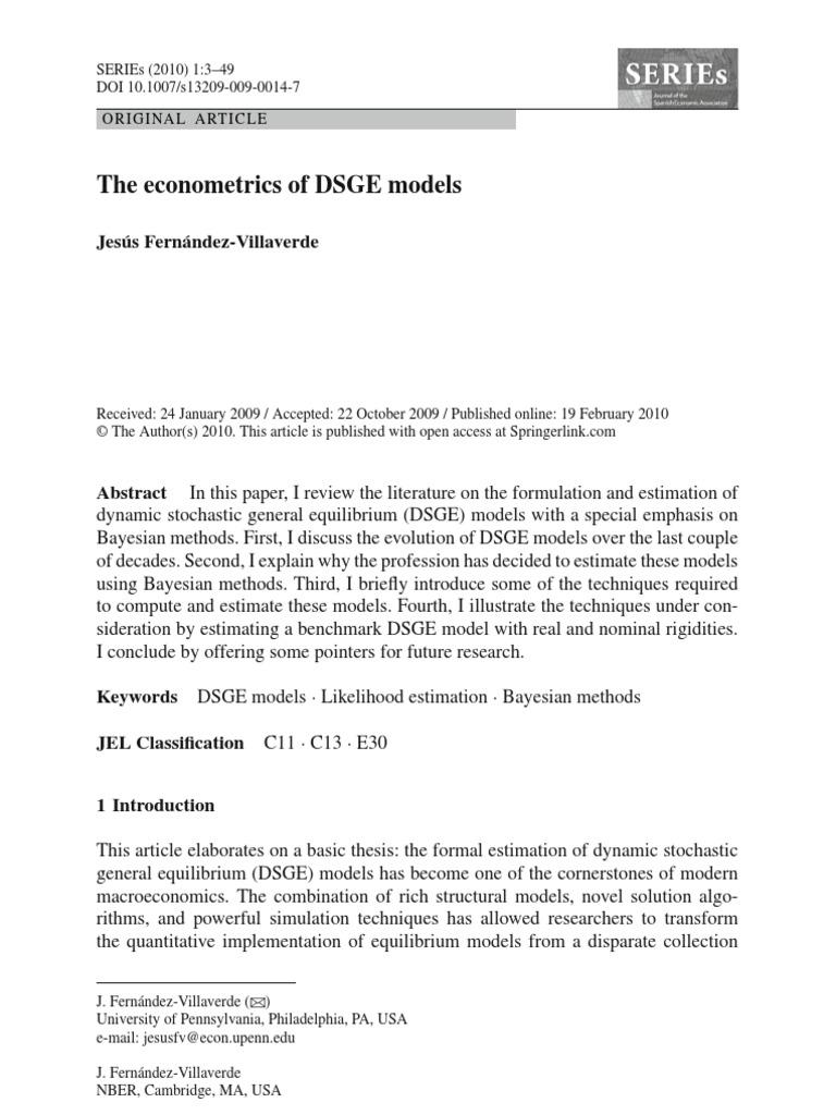 econometricsDSGE | Statistical Inference | Bayesian Inference