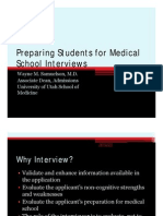 Medical School Interviews