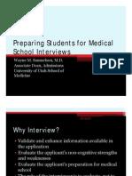 Medical School Interviews