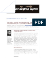Innovation Watch Newsletter 11.01 - January 14, 2012