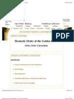 Ordine Esterno Curriculum