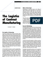 The Logistics of Manufacturing